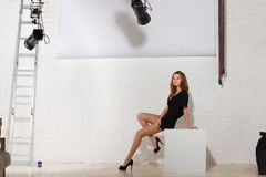 Model in studio Stock Image