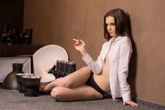Model at studio. Royalty Free Stock Photos