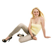 Model in studio Royalty Free Stock Photography