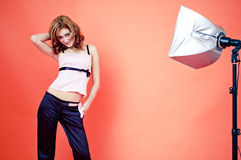 Model Studio Shoot stock photography