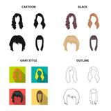 Model, style, wig and other web icon in different style.theaters, circus, entourage, icons in set collection. Stock Images