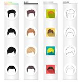 Model, style, wig and other web icon in different style.theaters, circus, entourage icons in set collection. Royalty Free Stock Photo