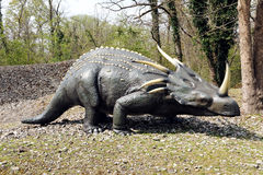 Model Styracosaurus in Outdoor Theme Park Royalty Free Stock Images