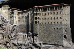 Model of Sumela Monastery. In Miniaturk,Istanbul.Miniaturk is a miniature park which contains models of famous structures from Istanbul,Anatolia and Ottoman Stock Photos