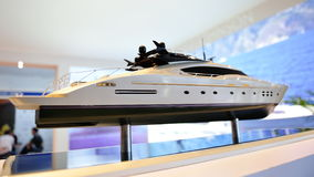 Model of super luxury yacht at Yacht Show Royalty Free Stock Images