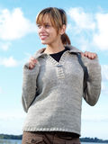 Model with sweater. Adult model posing outdor in offspring Stock Images