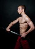 Model with a sword Stock Photos