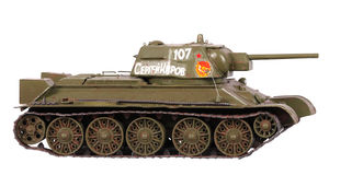Model of T-34 tank Royalty Free Stock Photography