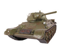 Model of T-34 tank Stock Photos