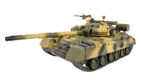 Model of T-80 tank. Plastic model of T-80 MBT Royalty Free Stock Image