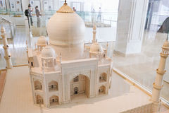 Model of Taj Mahal at the Islamic Arts Museum in Kuala Lumpur Royalty Free Stock Image