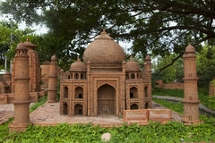 Model of Taj Mahal mausoleum made from earthenware and displayed at Thanh Ha earthenware village, Hoi An ancient town Royalty Free Stock Photography