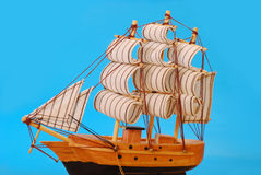 Model of tall sailing ship Royalty Free Stock Photo