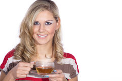 Model with tea Stock Photos