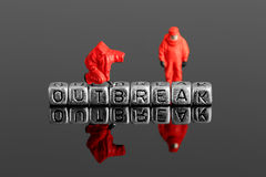 Free Model Team In Chemical Suits With The Word Outbreak On Beads Royalty Free Stock Photos - 91946758