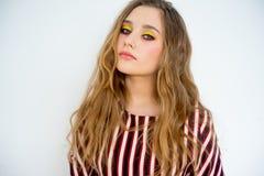 model teen för flicka Arkivbilder