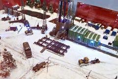 Model terytorium praca dla hufa eksploracja złóż ropy naftowej zdjęcia royalty free