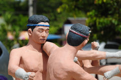 Model of Thai Boxing (Muay Thai) Stock Photo