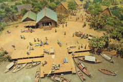 Model of Thai folkways Stock Images