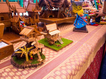 Model Thai house, made from wood Royalty Free Stock Photos