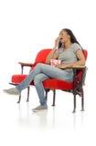 Model tired yawning Royalty Free Stock Image