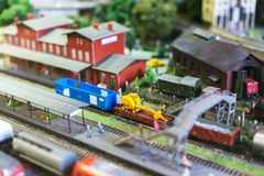 Model of train. Royalty Free Stock Photos