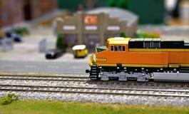 Model train at station Royalty Free Stock Image