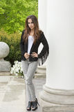 Model with trendy casual clothes Stock Images