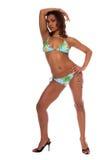 model tropiskt för bikini Royaltyfria Bilder