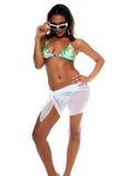 model tropiskt för bikini Arkivbild