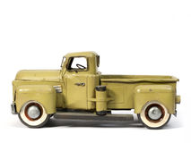 Model truck. Model of ancient truck made with tinplate Royalty Free Stock Photography