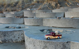 Model Truck Beach Steps Royalty Free Stock Image
