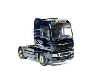 Model truck isolated on white background Stock Photo