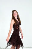 Model Twirl. Pretty caucasian teen girl model smiling Royalty Free Stock Photo