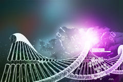Model of twisted chrome DNA chain Stock Image