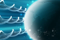 Model of twisted chrome DNA chain Stock Images