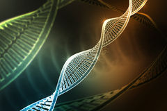 Model of twisted DNA chain  on dark colour Royalty Free Stock Image