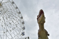 Model of tyrannosaurus. In the city Stock Photography