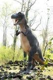 Model of Tyrannosaurus Rex Dinosaur Outdoors royalty free stock photo