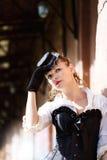 Model ubierający w wiktoriański lub steampunk stylu Zdjęcie Royalty Free