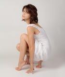 Model in Uiteindetenen Royalty-vrije Stock Fotografie