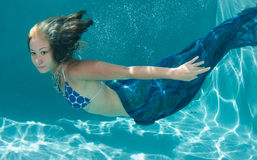Model under the water's surface Stock Photos