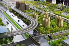 Model of urban mass transit Stock Image