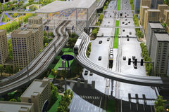 Model of urban mass transit system Royalty Free Stock Image