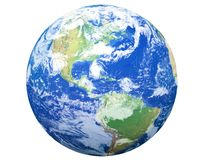 model USA-sikt för jord stock illustrationer