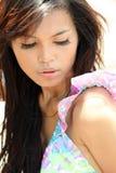 model utomhus- för kvinnlig Royaltyfri Foto