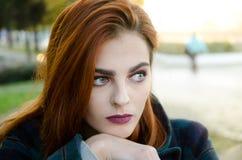 model utomhus- för kvinnlig Fotografering för Bildbyråer
