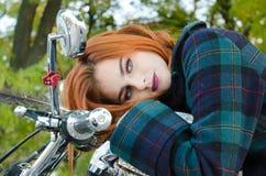 model utomhus- för kvinnlig Royaltyfri Fotografi