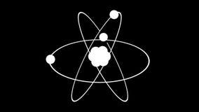 Model van de atoomdraai rond het 3d teruggeven stock video