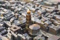 Model van Diocletian paleis in Spleet, Kroatië Royalty-vrije Stock Afbeelding